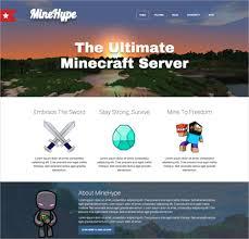 Free Html Website Templates Interesting 48 Creative Minecraft Website Themes Templates Free Premium