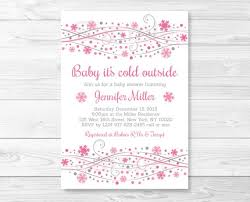 Snowflake Baby Shower Invitations Pink Snowflake Baby Shower Invitation Winter Baby Shower Baby