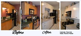 refacing laminate cabinets before and after photo 1