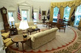 west wing oval office. The Oval Office Of White House After Renovations, Including New Wallpaper, On Aug West Wing :