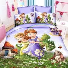 mermaid princess girls bedding set duvet cover bed sheet pillow cases twin single size disney sheets
