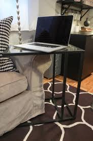 vittsj laptop stand black brown glass