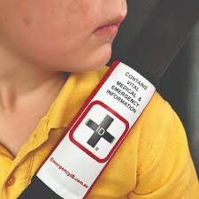 seat belt cover with emergency id