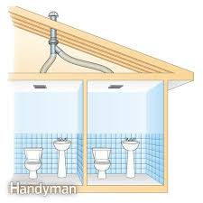 bathroom fan ducting. Bathroom Vent Fan Classy Decor Use An In Line To Two Bathrooms The Family Handyman Ventilation Ducting O
