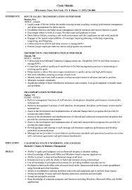 Transportation Supervisor Resume Samples Velvet Jobs