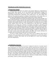 gender studies final essay corrigan queens university  1 pages globalization and the feminization of poverty