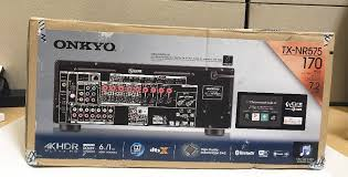 onkyo nr575. new onkyo tx-nr575 7.2-channel a/v receiver with bluetooth, wi-fi, atmos \u0026 dts:x | ebay nr575 m