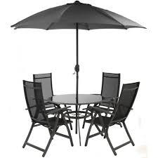 royalcraft valencia black aluminium garden furniture set 4 seater
