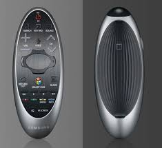 samsung 4k tv remote. the new 2014 clicker has a smaller touchpad and more buttons than 2013 version. samsung 4k tv remote