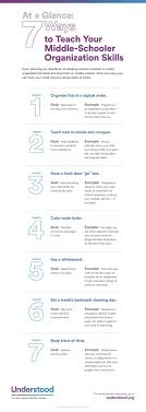 top 25 ideas about school middle school teachers at a glance 7 ways to teach your middle schooler organization skills