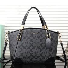 ... Kelsey Satchel Shoulder Purse Handbag Coach Logo Monogram LZ727 Satchel  In Black Coach In Signature Medium ...