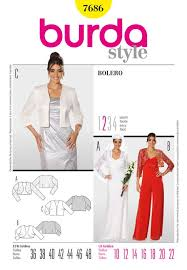 Bolero Jacket Pattern Adorable Misses Bolero Burda Sewing Pattern No 48 Size 48 To 48 Sew