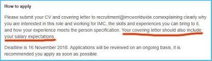 Amazing Salary Requirements Cover Letter To Create Your Own