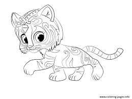 Tiger Nahal From Shimmer And Shine Coloring Coloring Pages Printable