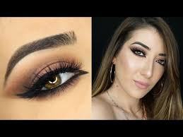 sultry cat eye and soft arabic makeup tutorial zoeva cosmetics cocoa blend palette you