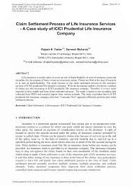 Claim Letters Claim Settlement Process Of Life Insurance Services A Case