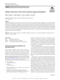 PDF) Cellular senescence: at the nexus between ageing and diabetes
