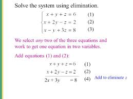 8 solve the system using elimination
