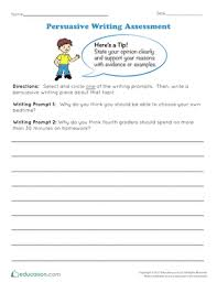 th grade essay writing worksheets printables com persuasive writing assessment