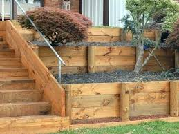 wood retaining wall plans garden walls the glove construction wooden ideas