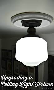 Lighting Upgrades Upgrading A Flush Mount Light Diy Light Fixtures Home