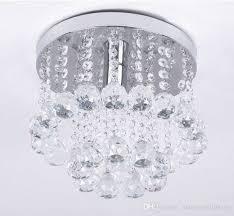 mini style 1 light flush mount crystal chandelier spiral rain drop with flush mount crystal