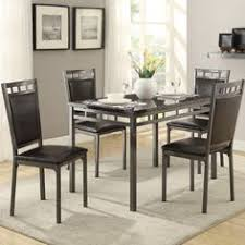 cushing 5 piece dining set faux marble top andover mills sunroom dining kitchen dining