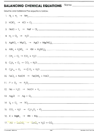 balancing chemical equations worksheet 1 answer key beautiful free worksheets library and print answers worksh balancing