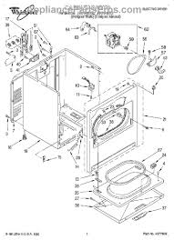 whirlpool wp3406107 dryer door switch assembly part diagram