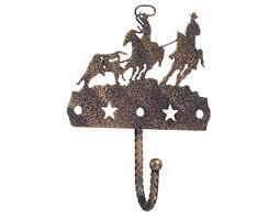 gift corral single hook black bronze team roper