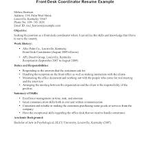 Cover Letter For Hotel Receptionist With No Experience Impressive