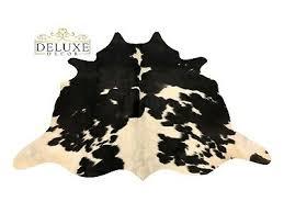 small cowhide rug natural black white hair on cow hide skin fur 22 sqft area rug