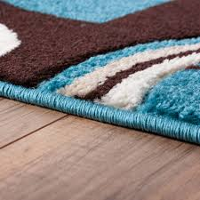 brown blue area rug roselawnlutheran area rug echo shapes u0026 circles blue u0026 brown geometric