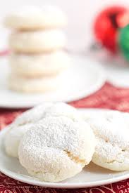 nut free snowball cookies for santa