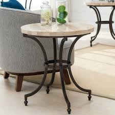 stone top end tables round stone top side table with rubbed bronze metal base stone top