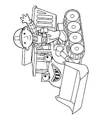 Small Picture Bob the builder Muck coloring page