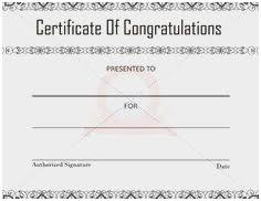 Congratulation Certificate Congratulations Certificate Template Word Astonishing