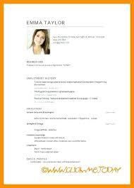 Sample Teacher Template Page 1 Word English Cv Template Word