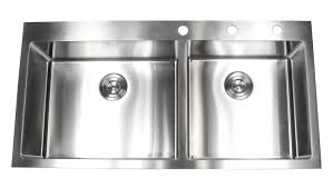 43 Inch Top Mount Drop In Stainless Steel Double Bowl Kitchen Sink