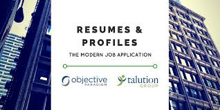 Modern Resume Not Including Objective Resumes And Profiles The Modern Job Application Objective