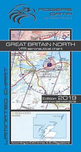 Vfr Aeronautical Charts Vfr Aeronautical Chart Great Britain North 2019 Rogers Data Rogers Gb N