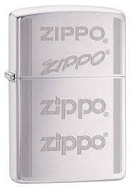 "<b>Зажигалка Zippo</b> ""<b>200</b> Zippo Logo"" с покрытием Brushed Chrome ..."