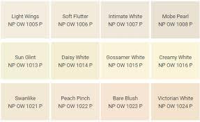 Colour Paint Chart