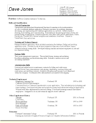 Qa Resume Template Fabulous Quality Control Resume Examples Free