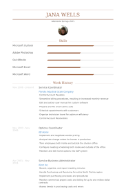 Service Coordinator Resume Samples Visualcv Resume Samples Database