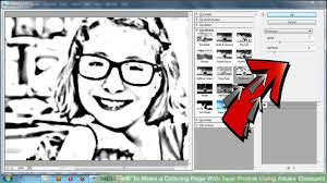 Small Picture How to Make a Coloring Page With Your Photos Using Adobe Elements