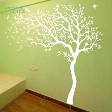 love space hot huge tree wall sticker white decals nursery stickers for kids rooms in from