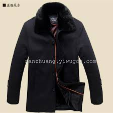 the middle aged men s cotton padded winter coat fur collar with terry cotton explosion father