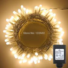 Golden Power Lights Us 13 11 18 Off 10m 33ft 100leds Warm White Pearl Led String Starry Lights Christmas Holiday Fairy Lights 8 Modes Us Eu Uk Adapter In Led String