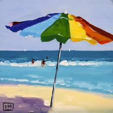 beach scene painting a colorful spot by debbie miller